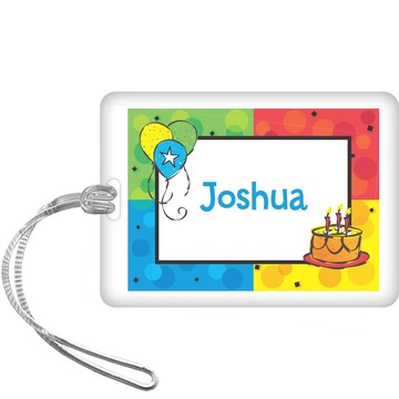 Cake Celebration Personalized Bag Tag (each)