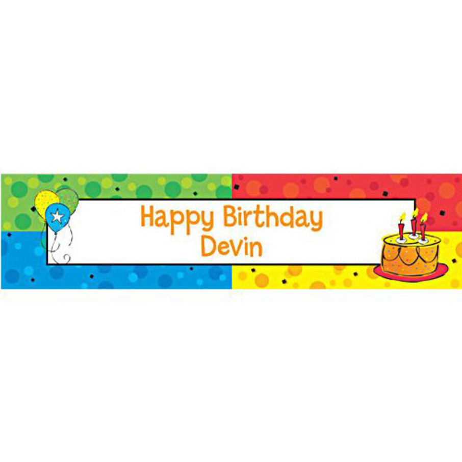 View larger image of Cake Celebration Personalized Banner (each)
