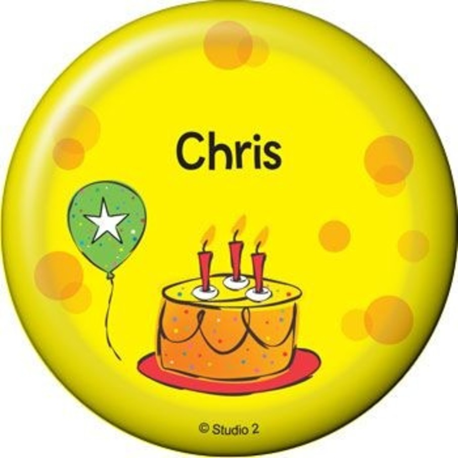 View larger image of Cake Celebration Personalized Button (each)