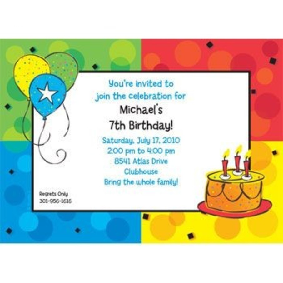 View larger image of Cake Celebration Personalized Invitation (each)