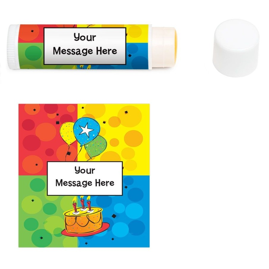 View larger image of Cake Celebration Personalized Lip Balm (12 Pack)