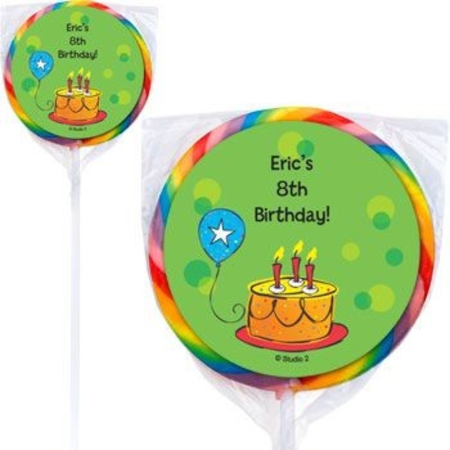 View larger image of Cake Celebration Personalized Lollipops (pack of 12)