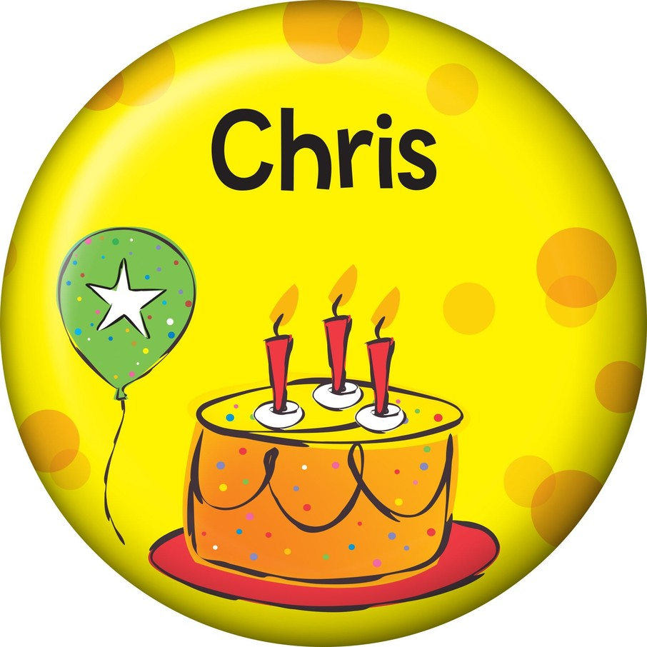View larger image of Cake Celebration Personalized Mini Button (Each)