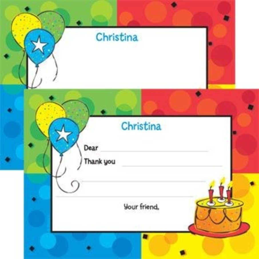 View larger image of Cake Celebration Personalized Thank You Note (each)