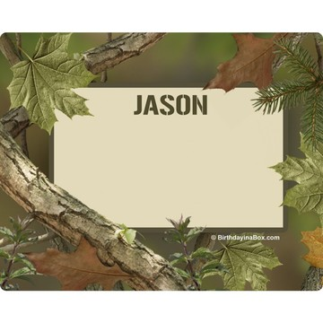 Camo Personalized Address Labels (Sheet Of 15)