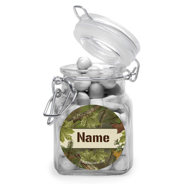 Camo Personalized Glass Apothecary Jars (12 Count)