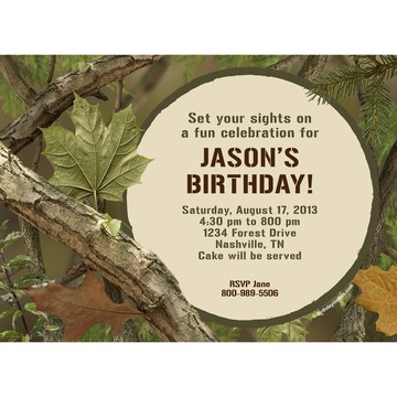 Camo Personalized Invitation (Each)