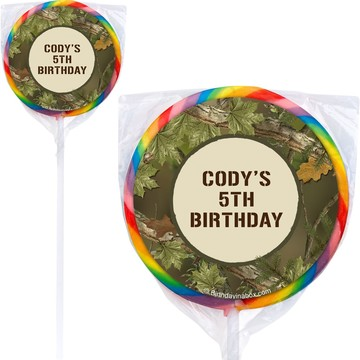 Camo Personalized Lollipops (12 Pack)