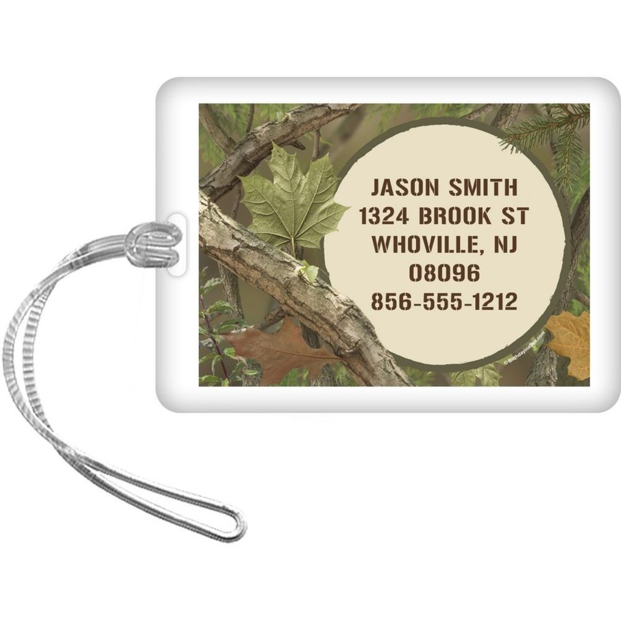 View larger image of Camo Personalized Luggage Tag (Each)