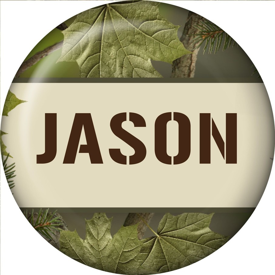 View larger image of Camo Personalized Mini Button (Each)