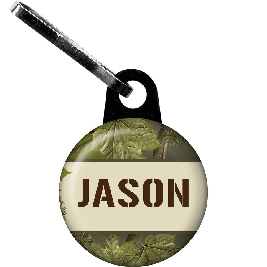 View larger image of Camo Personalized Mini Zipper Pull (Each)