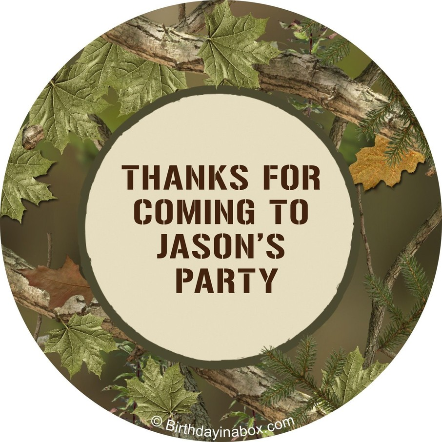 View larger image of Camo Personalized Stickers (Sheet of 12)