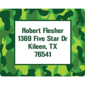 Camouflage Personalized Address Labels (sheet of 15)