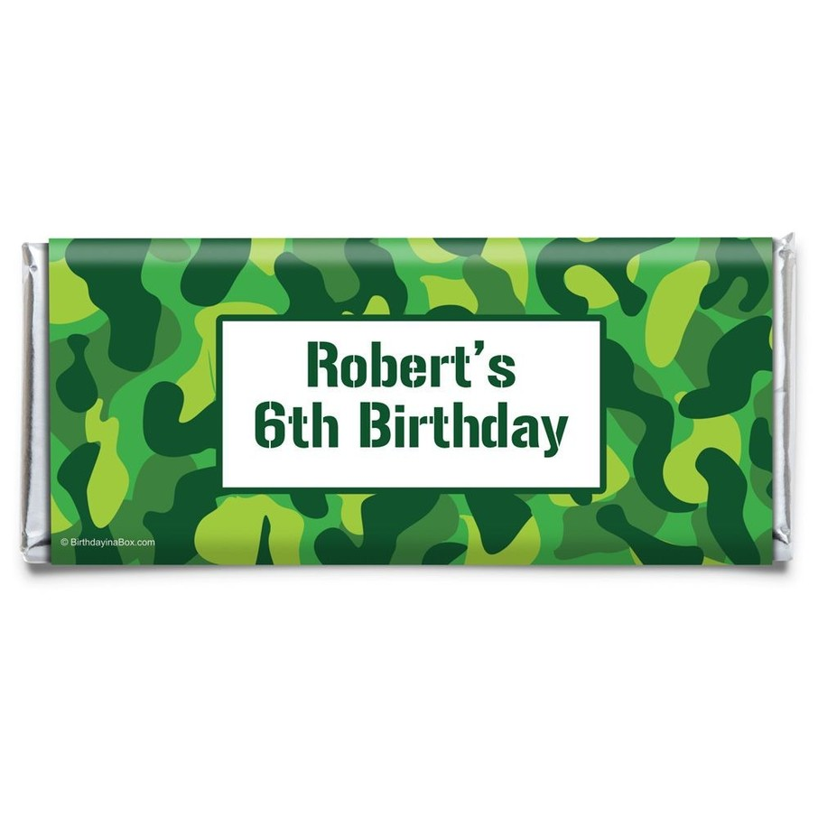 View larger image of Camouflage Personalized Candy Bar Wrapper (Each)