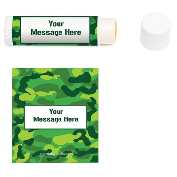 Camouflage Personalized Lip Balm (12 Pack)