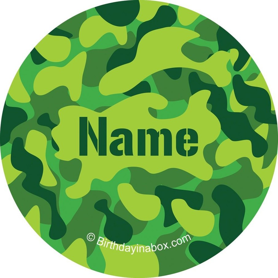 View larger image of Camouflage Personalized Mini Stickers (Sheet of 24)