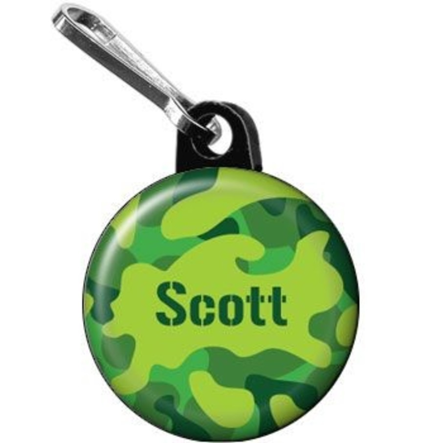 View larger image of Camouflage Personalized Mini Zipper Pull (each)