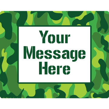 Camouflage Personalized Rectangular Stickers (Sheet of 15)