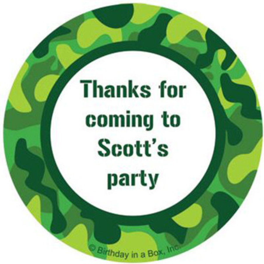View larger image of Camouflage Personalized Stickers (sheet of 12)