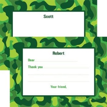 Camouflage Personalized Thank You Note (each)
