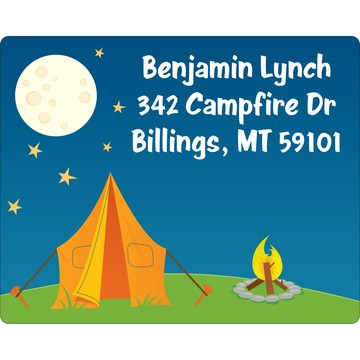 Camping Personalized Address Labels (Sheet of 15)