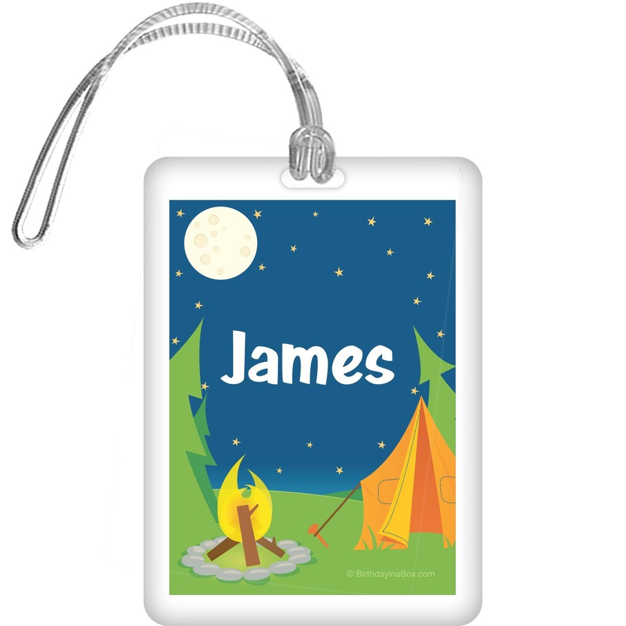 View larger image of Camping Personalized Bag Tag (each)