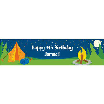 Camping Personalized Banner (each)