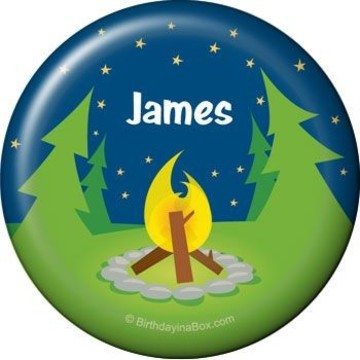 Camping Personalized Button (each)
