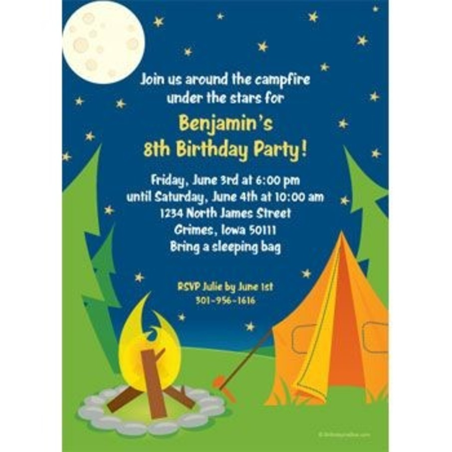 View larger image of Camping Personalized Invitation (each)