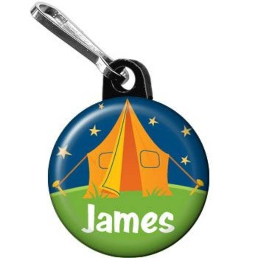 View larger image of Camping Personalized Mini Zipper Pull (each)