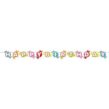 Candy Shop Happy Birthday Banner