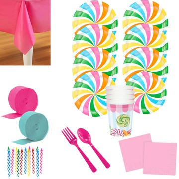 Candy Shoppe Deluxe Tableware Kit (Serves 8)