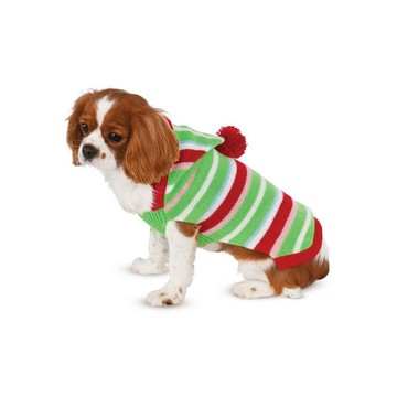Candy Striped Sweater Pet Costume