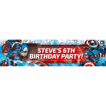 Captain America Personalized Banner (Each)