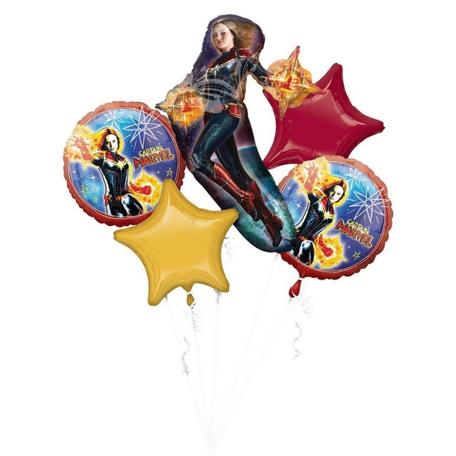 View larger image of Captain Marvel Balloon Bouquet