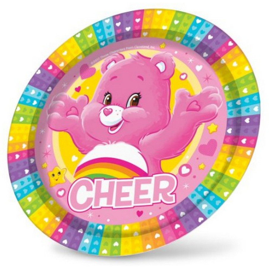 """View larger image of Care Bears 9"""" Plates (8)"""