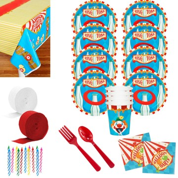 Carnival Games Deluxe Tableware Kit (Serves 8)