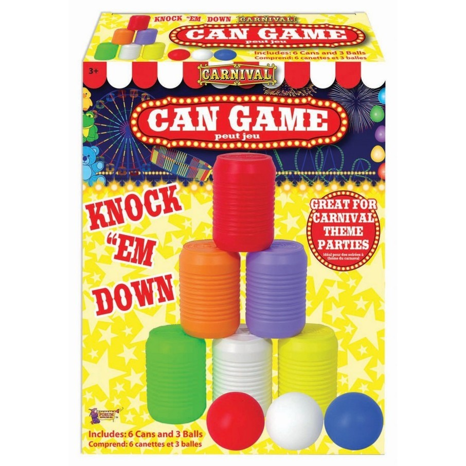 View larger image of Carnival Knock The Can Down Game