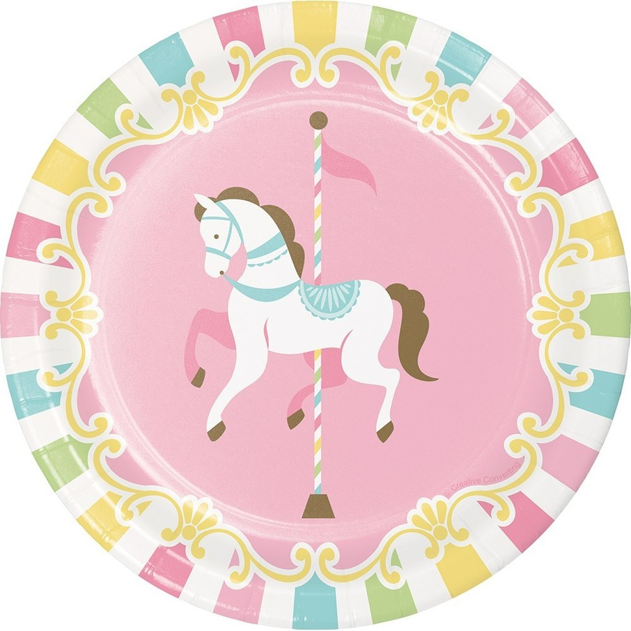 """View larger image of Carousel 7"""" Dessert Plate"""