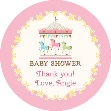 Carousel Personalized Stickers (Sheet of 12)