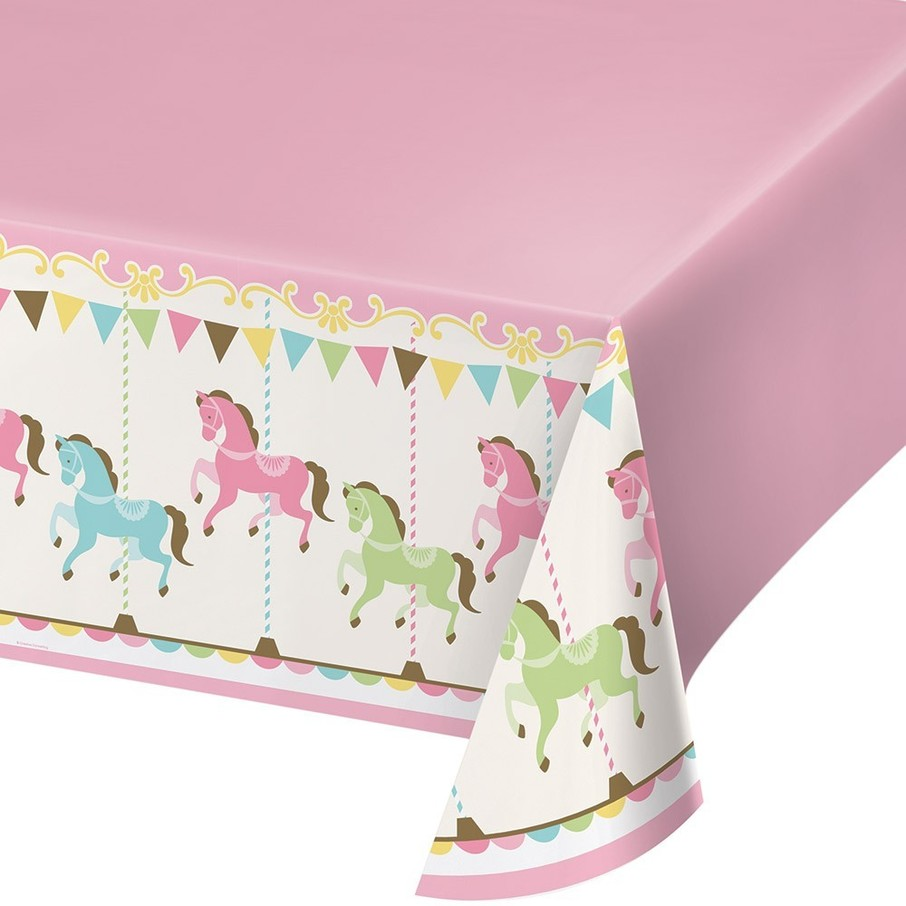 View larger image of Carousel Plastic Tablecover
