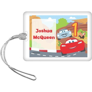 Cars 1st Birthday Personalized Bag Tag (Each)