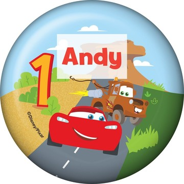 Cars 1st Birthday Personalized Button (Each)