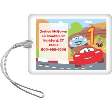 Cars 1st Birthday Personalized Luggage Tag (Each)