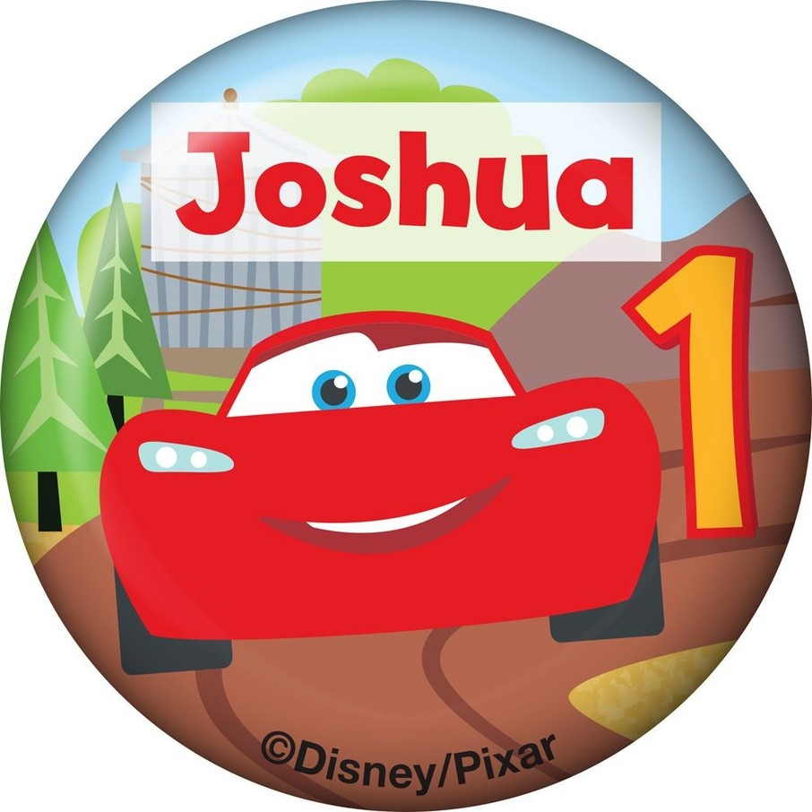 View larger image of Cars 1st Birthday Personalized Mini Button (Each)
