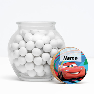 """Cars 2 Personalized 3"""" Glass Sphere Jars (Set of 12)"""