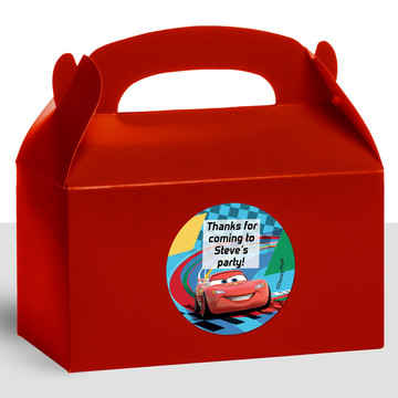 Cars 2 Personalized Treat Favor Boxes (12 Count)