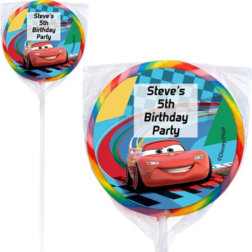 Cars 2 Personalized Lollipops (12 Pack)