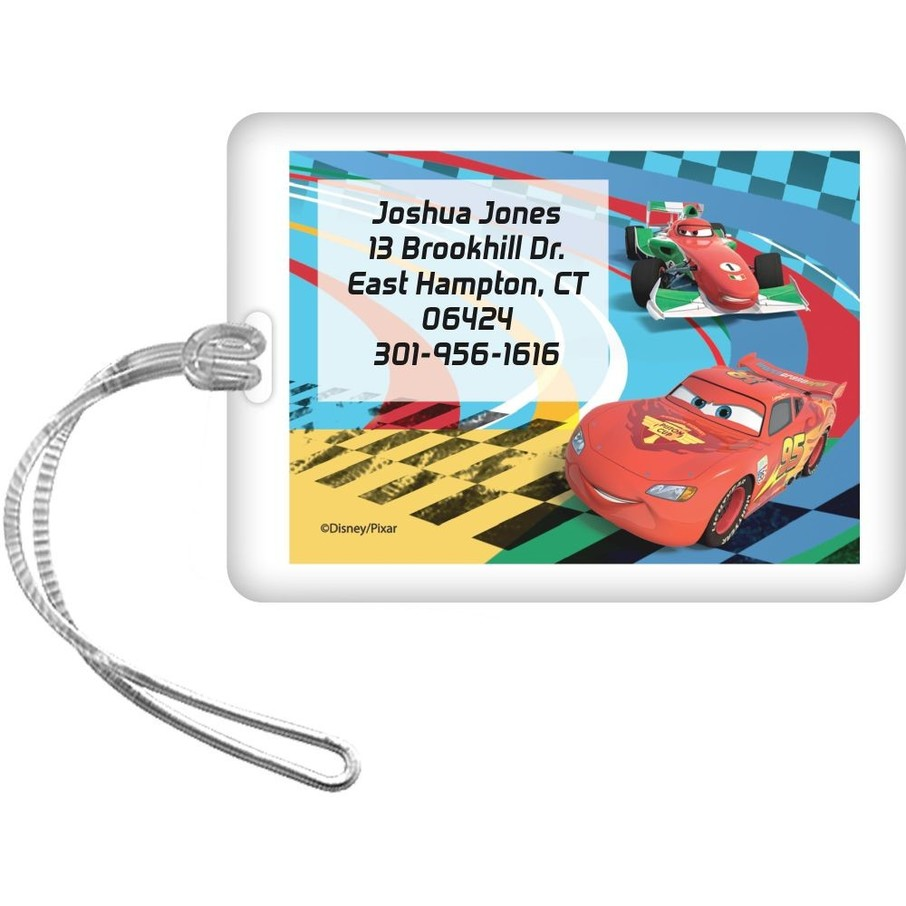 View larger image of Cars Too Personalized Luggage Tag (Each)