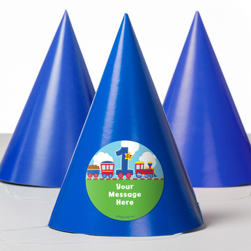 Cars, Trucks, & Trains Personalized Party Hats (8 Count)